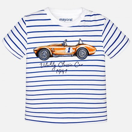 Chlapčenské pruhované tričko s krátkym rukávom