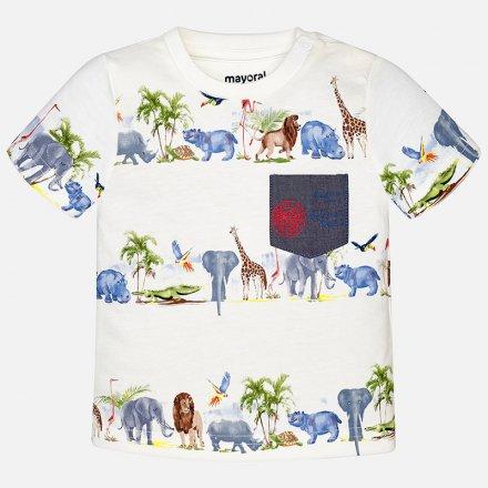 Chlapčenské tričko s krátkym rukávom so zvieratkami