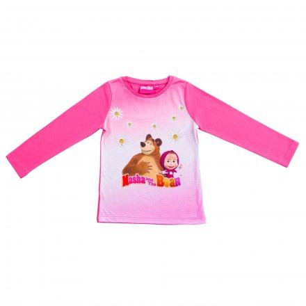 Dievčenské tričko Máša a medveď