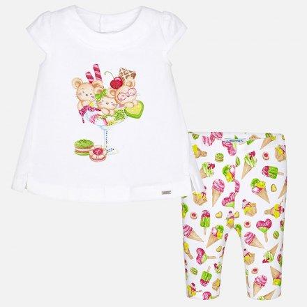 Dievčenská letná súprava tričko a legíny s potlačou