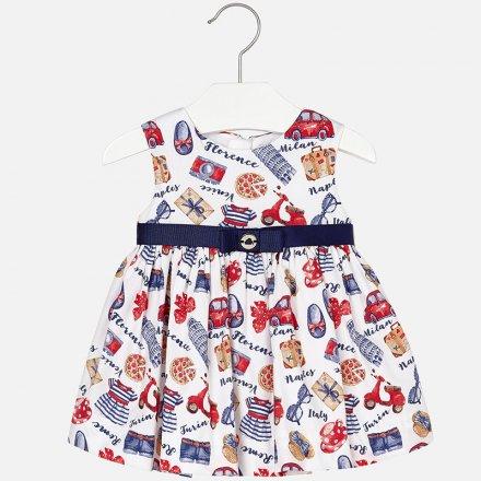 Dievčenské letné šaty s opaskom