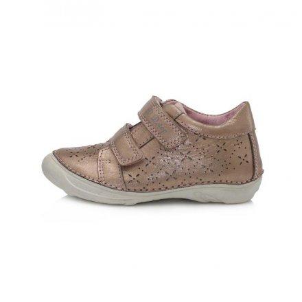 Dievčenské kožené prechodné topánky-Champagne