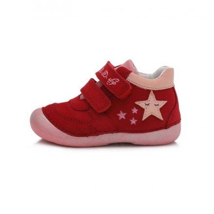 Dievčenské kožené prechodné topánky-Red