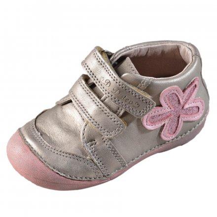 Dievčenské kožené prechodné topánky-Cream