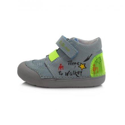 Chlapčenské kožené prechodné BAREFEET topánky-Bermuda Blue