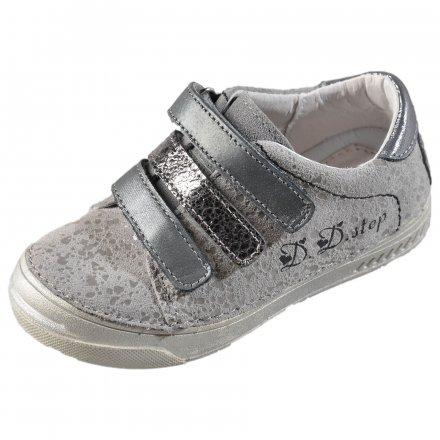 Dievčenské kožené prechodné topánky-Grey