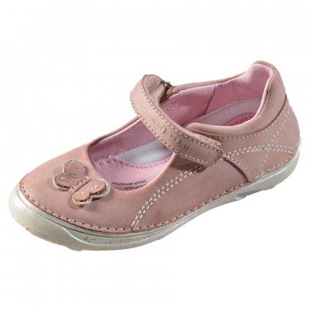 Dievčenské kožené balerínky-Daisy pink