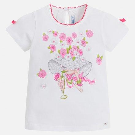 Dievčenské tričko s krátkym rukávom a potlačou