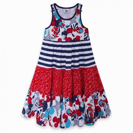 Dievčenské džersejové šaty na ramienka