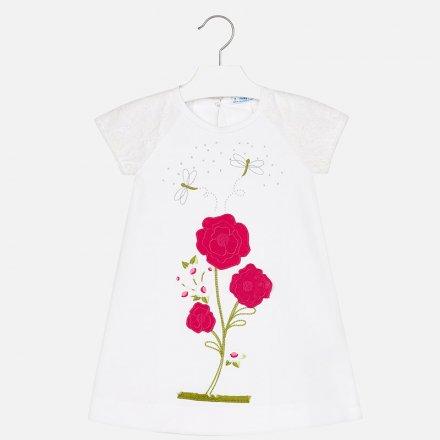 Džersejové šaty s dekoratívnou aplikáciou