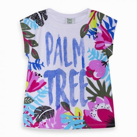 Dievčenské tričko s krátkym rukávom a s farebnou potlačou