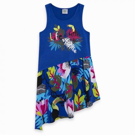 Džersejové letné šaty s asymetrickou sukňou