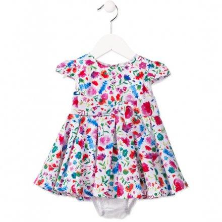 Kvetinové šaty s nohavičkami