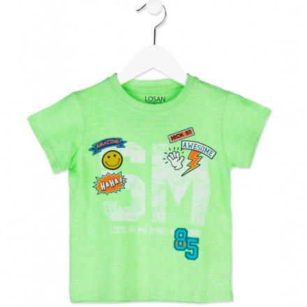 Chlapčenské tričko s krátkym rukávom a nášivkami