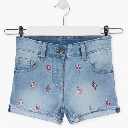 Dievčenské riflové šortky s flitrami