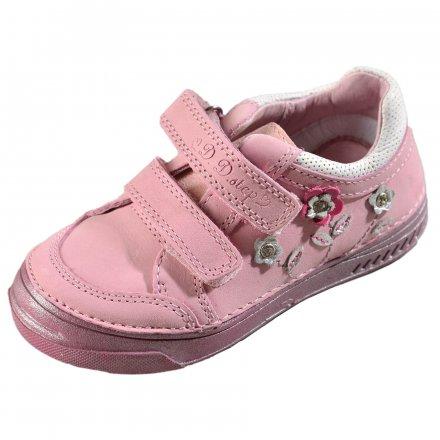 Dievčenské kožené prechodné topánky-Daisy pink