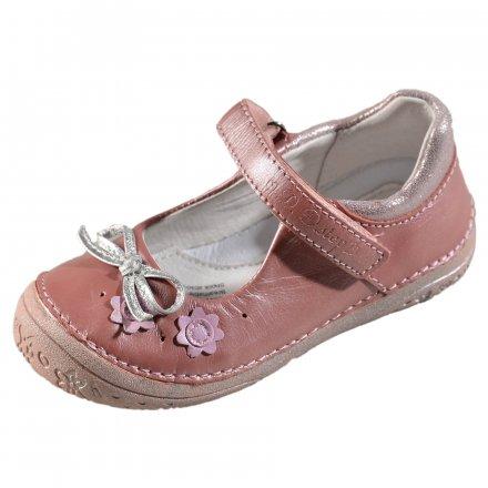 Dievčenské kožené balerínky-Pink