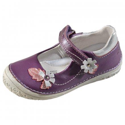 Dievčenské kožené balerínky-Lavender