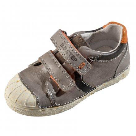 Chlapčenské kožené prechodné topánky-Chocolate