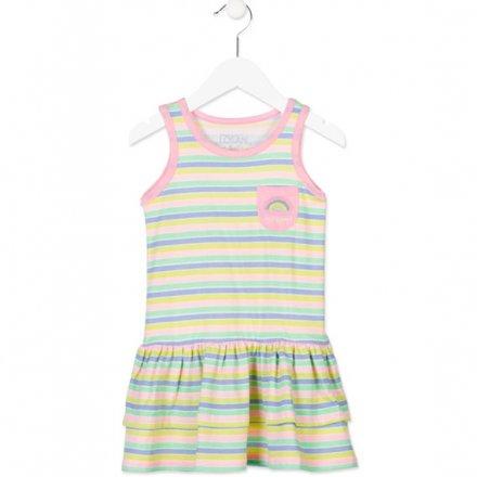 Letné džersejové šaty bez rukávov