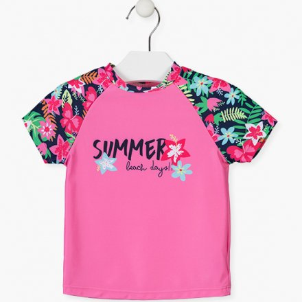 Dievčenské plavecké tričko s OF