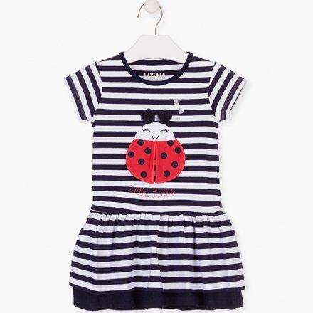 Dievčenské džersejové šaty s krátkym rukávom
