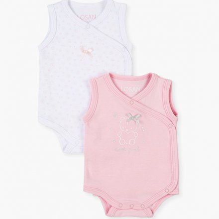 Novorodenecké body pre dievčatá-2ks v balení