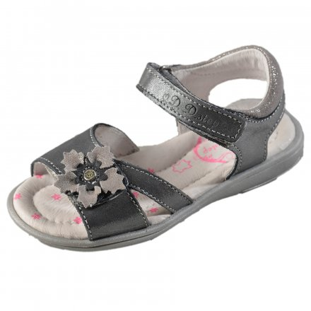 Dievčenské kožené sandále-Grey
