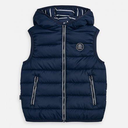 Chlapčenská vesta na zips s kapucňou