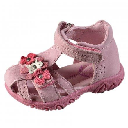 Dievčenské kožené sandále-Daisy Pink