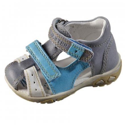 Chlapčenské kožené sandále-Grey