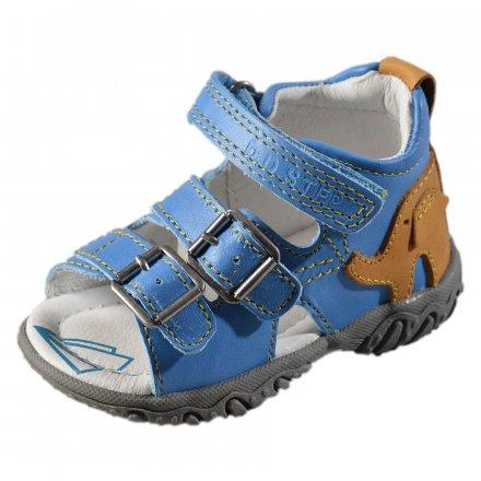 Chlapčenské kožené sandále-Sky Blue