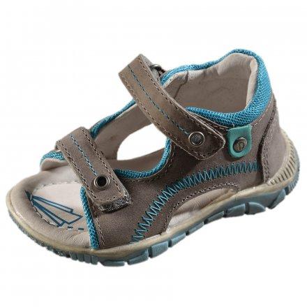 Chlapčenské kožené sandále - Grey
