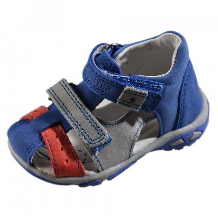 Chlapčenské kožené sandále - Bermuda blue