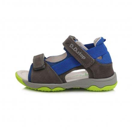 Chlapčenské kožené sandále-Dark Grey