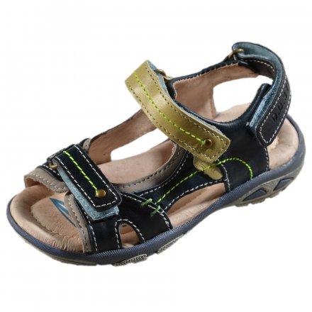 Chlapčenské kožené sandále -Royal Blue