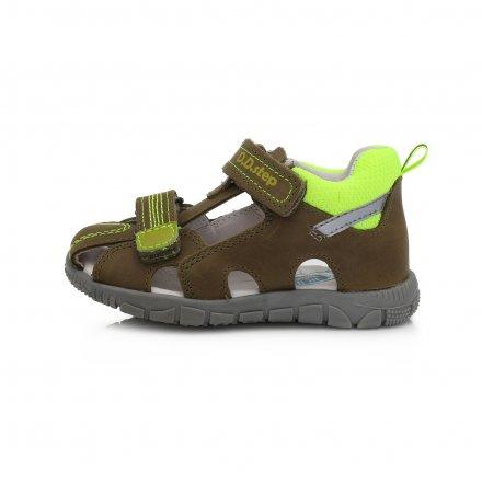 Chlapčenské kožené sandále-Emerald