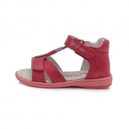 Dievčenské kožené sandále-White