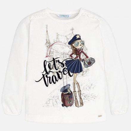 Dievčenské tričko bez rukávov s milou potlačou