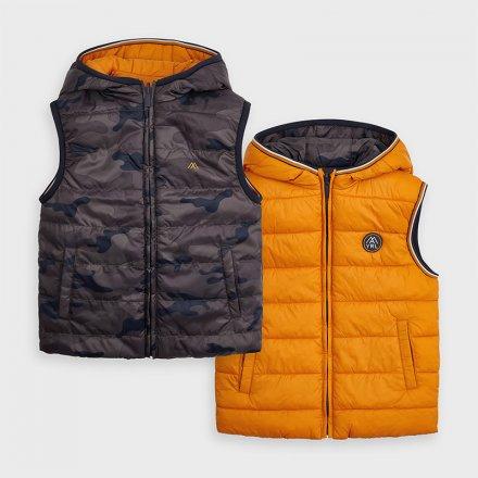 Chlapčenská obojstranná vesta s kapucňou