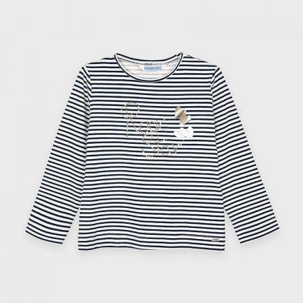 Dievčenské pruhované tričko s dlhým rukávom