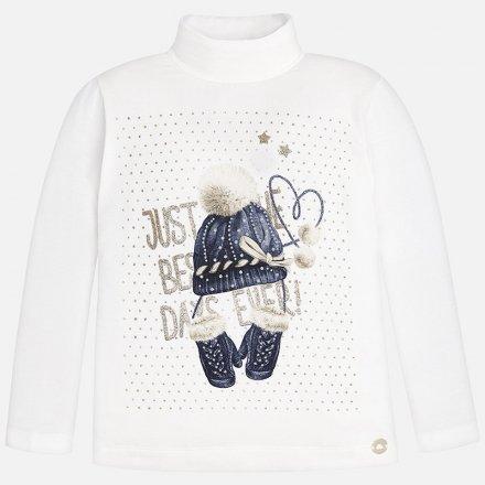 Dievčenské tričko  s dlhým rukávom a so stojačikom