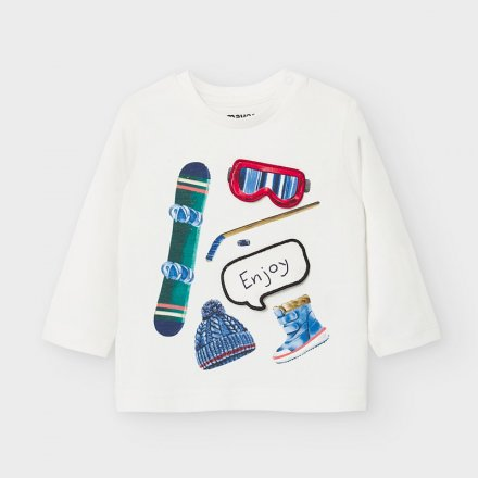 Chlapčenské tričko s dlhým rukávom a s potlačou
