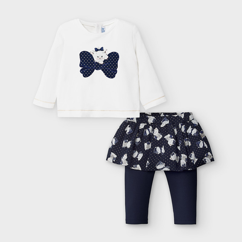 Dievčenská súprava tričko a legíny so sukňou