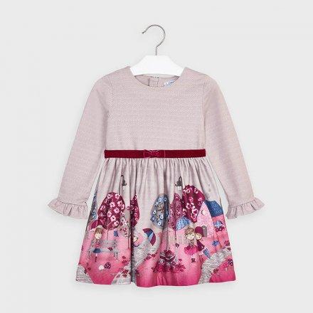 Dievčenské šaty s krátkym rukávom a s opaskom