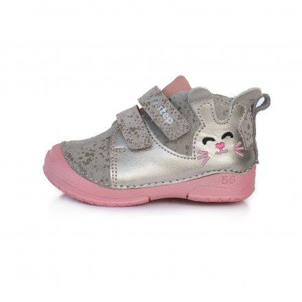 Dievčenské prechodné kožené topánky-Grey
