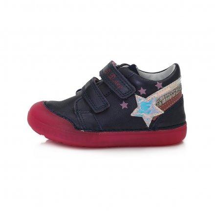 Dievčenské prechodné kožené topánky-Royal Blue