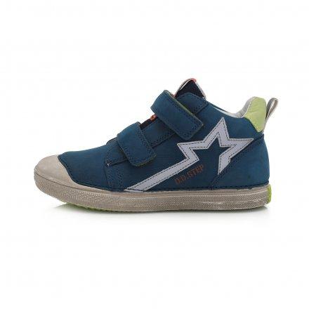 Chlapčenské kožené kotníkové prechodné topánky-Royal Blue