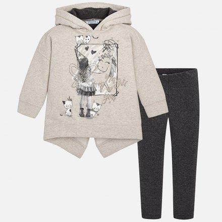 Dievčenská súprava mikina s kapucňou a legíny
