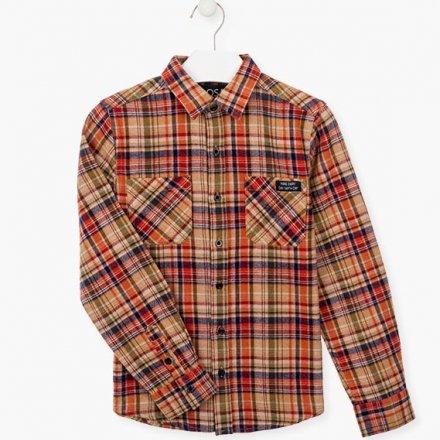 Chlapčenská kockovaná flanelová košeľa
